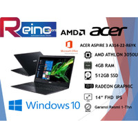 ACER ASPIRE 3 A314-22-R6YK ATHLON 3050U 4 / 8GB 512 SSD 14FHD IPS OHS - 4 gb