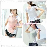 Baju Atasan Sport Import Wanita / Kaos Drifit