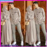 Baju Pasangan Wanita Keluarga Muslimah Gamis Couple Syari Dress Murah