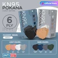 POKANA - Masker Earloop 6 Ply KN95 | Masker KN95 | Masker Medis