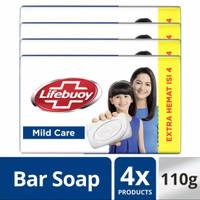 Lifebuoy sabun batang mild care 110 gr isi 4pcs