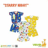 NEW Velvet Junior Pakaian Baby SNI Baju Anak Bayi Setelan Pendek Halus - S