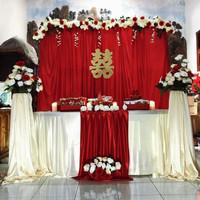 kain dekorasi pernikahan kain backdrop lamaran kain background photo