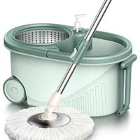 Alat Pel Magic Rotary Mop 360 Degree Hand Pressure Dry + Bak Pengering