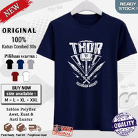 baju kaos pria keren kekinian premium murah original Thor Asgardian Wa - Navy, M