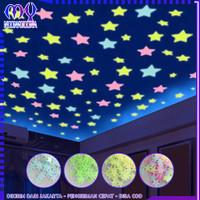 Stiker Bintang per 100 pcs / Stiker Dinding / Glow In The Dark Star