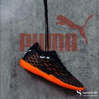 Sepatu Futsal Puma Future 6.3 IT - Black/Shocking Orange 106193-01 Ori