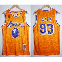 JERSEY NBA BAPE X LAKERS #93 KUNING 18-19
