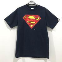 Bape X DC Madison Avenue Superman T-shirt Navy 100% Original