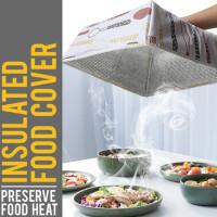 Tudung Saji Lipat Kotak Persegi Besar Penahan Panas Food Cover Insulat