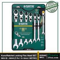 7 Pcs XL Flex Head Rachet Set 09043 SATA TOOLS