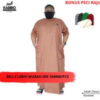 Baju Gamis Jubah Pria 4XL, 5XL Big Size Jumbo Pria - Hitam
