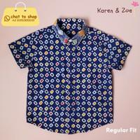 Batik Anak - Koa Shirt Regular Fit - Wonogiren Cinde - Navy - 2