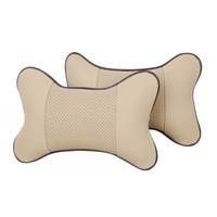 Bantal Leher Mobil Car Headrest Universal Kulit / Car Neck Pillow