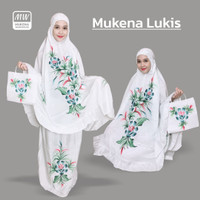 Mukena Bali Dewasa Lukis Motif Bunga