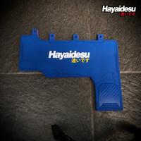 Hayaidesu Mud Flap Penahan Lumpur SCOOPY RING 12 Aksesoris Kepet Motor - Biru