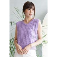 Lilac knit vest ready premium! Melar! Ga berat! Bisa jadi outer or top