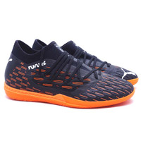 Sepatu Futsal Puma Future 6.3 Netfit IT - Black/White/Shocking Orange
