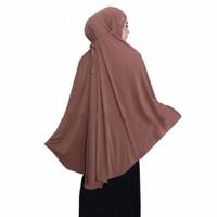 jilbab mukenah bahan jersey polos ukurannya jumbo sekali