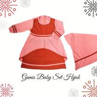 Baju Gamis Bayi Perempuan Cantik Set Hijab | Gamis Baby Perempuan