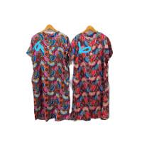 daster pendek kencana ungu/daster batik/baju tidur batik/kencana ungu