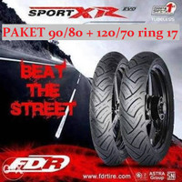 Paket Ban Motor FDR Sport XR EVO 90/80 + 120/70 ring 17 MX King Vixion