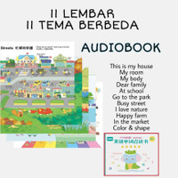 33 audiobook 11 buku edukasi soundbook inggris mandarin anak pemula