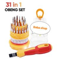 Obeng Set 31 in 1 Multifungsi Untuk HP, laptop, PC, Android, DVD dll