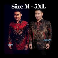 Baju Batik Pria Jumbo Big Size M-5XL kemeja batik lengan panjang 03