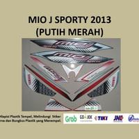 Mio J 2013 (putih merah ) List Striping Stripping Stiker Sticker
