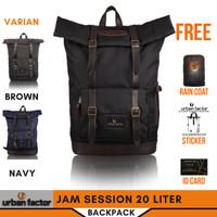 Tas Ransel Backpack RollTop Waterproof Pria URBAN FACTOR Jam Session