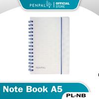 Penpal Note Book A5 Spiral Clear Dots Transparan PL-NB