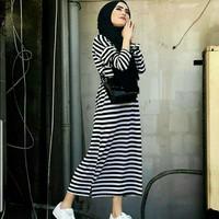 Baju Pakaian Maxi Dress dres gamis santai wanita cewek kekinian murah