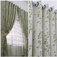 gorden jendela minimalis bunga serambit bahan satin beridal
