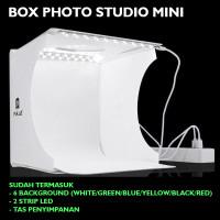 Box Photo Studio Mini dengan 2 Strip Lampu LED