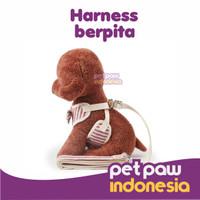 Harness Tali Tuntun Anjing Leash Dog Kostum Baju Rompi Motif + Pita