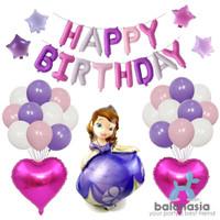 Balonasia Balon Set HBD Princess Sofia