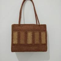 tas handbag etnik anyaman wanita hand made asli kulit