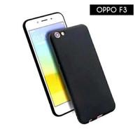 Oppo F3 Casing Ultra Slim Polos Hitam