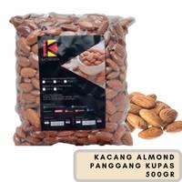 Almond Roasted (Kacang Almond Panggang) Blue Diamond tanpa cangkang