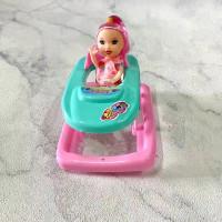 Mainan Anak Baby Walker Stroller Plus Anak Barbie Berbie Mini Babywalk