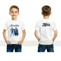 kaos baju anak Ultraman zero free nama/Kartun/Depan/Belakang/terbaru - S