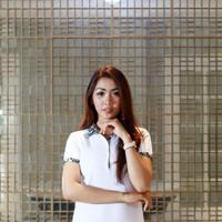 Kemeja Baju Kaos Polo T-shirt Kerah Batik Wanita Casual Distro Putih - S