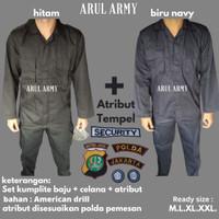 Baju seragam setelan security satpam pdl murah higt quality