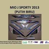 Mio J 2013 (putih biru) List Striping Stripping Stiker Sticker