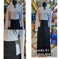 gamis Dinas hitam putih gamis dinas PNS baju dinas ASN gamis Pemda