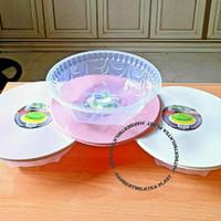 Cetakan agar tutup plastik /cetakan puding + tutup Lily 24cm ASVITA