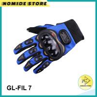 Sarung Tangan Batok Motor PROBIKER Glove Full Finger Touch Screen Pria - FI-BLUE, L