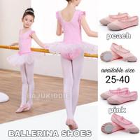 BAJUKIDDIE BALLERINA SHOES sepatu balet kanvas nari tarian dansa anak
