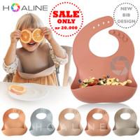 Slabber celemek makan bayi karet / silicone baby bip BPA Free HL 4003